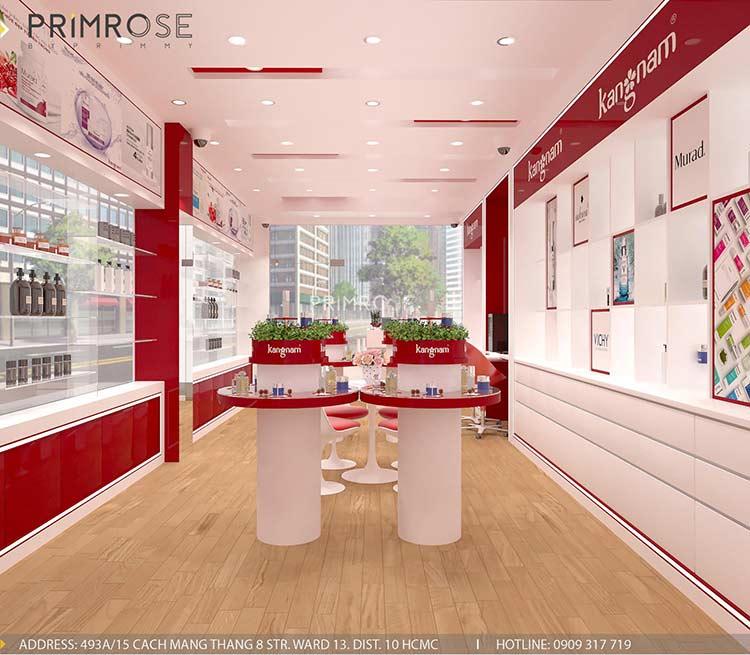 Tạo sự khác biệt trong thiết kế nội thất showroom mỹ phẩm Kang Nam - Tân Bình, HCM thiet ke showroom my pham Kang Nam 6