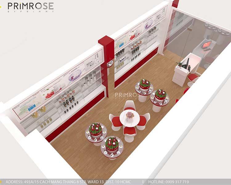 Tạo sự khác biệt trong thiết kế nội thất showroom mỹ phẩm Kang Nam - Tân Bình, HCM thiet ke showroom my pham Kang Nam 8