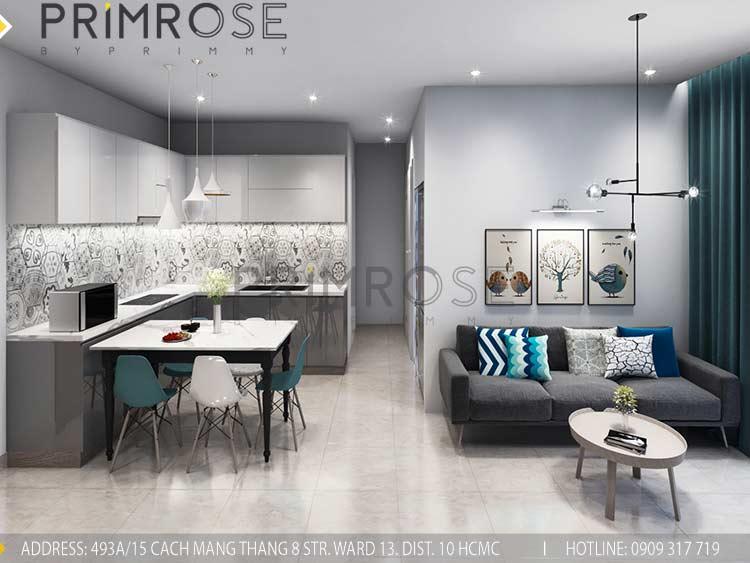 Thiết kế nội thất căn hộ 2 phòng ngủ tại dự án Sunrise Riverside - Nhà Bè PK view3