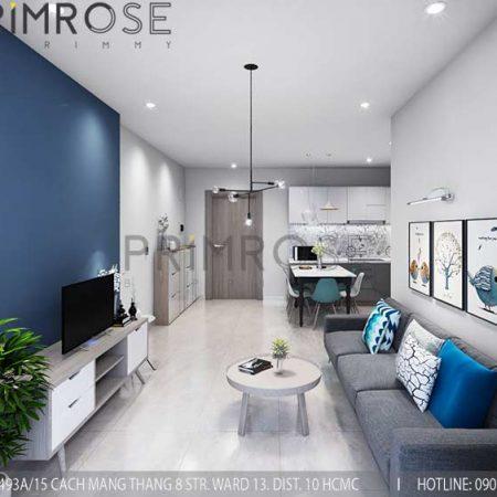 Thiết kế nội thất căn hộ 2 phòng ngủ tại dự án Sunrise Riverside – Nhà Bè