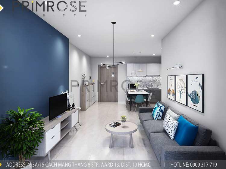 Thiết kế nội thất căn hộ 2 phòng ngủ tại dự án Sunrise Riverside - Nhà Bè pk view1