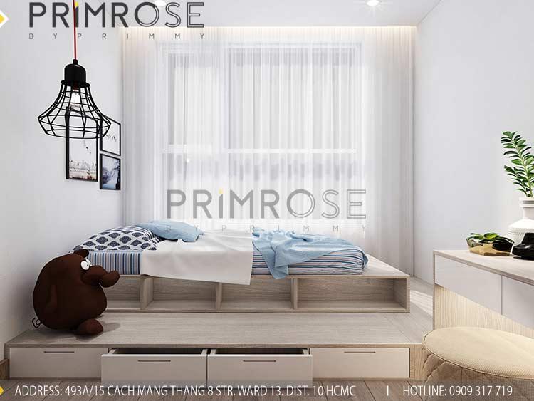 Thiết kế nội thất căn hộ 2 phòng ngủ tại dự án Sunrise Riverside - Nhà Bè pn view2
