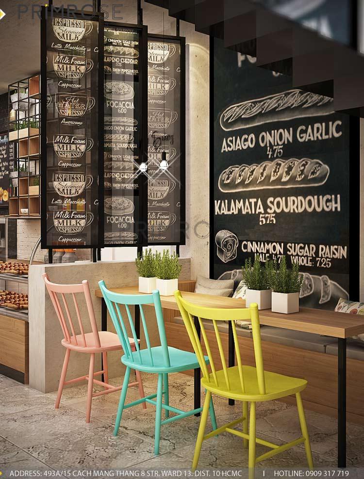 Lên ý tưởng thiết kế nội thất tiệm bánh - cafe mang phong cách riêng của bạn thiet ke cafe banh 1