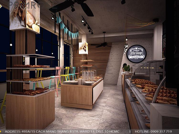 Lên ý tưởng thiết kế nội thất tiệm bánh - cafe mang phong cách riêng của bạn thiet ke cafe banh 2