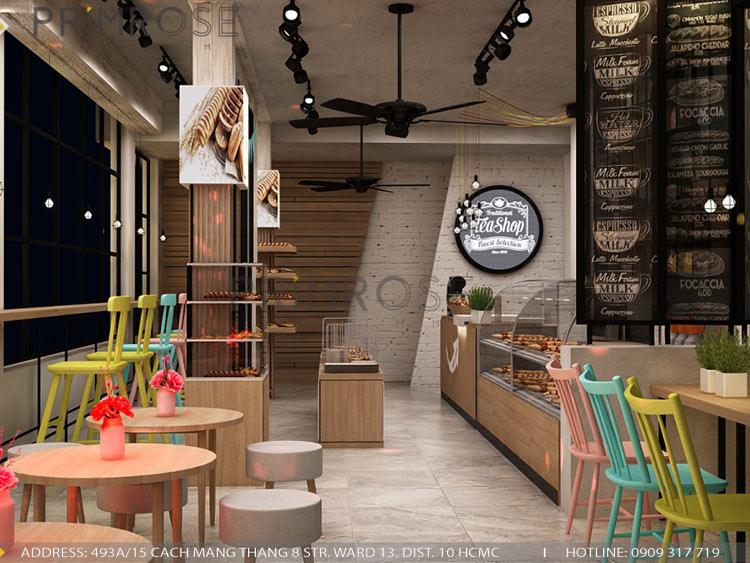 Lên ý tưởng thiết kế nội thất tiệm bánh - cafe mang phong cách riêng của bạn thiet ke cafe banh 3