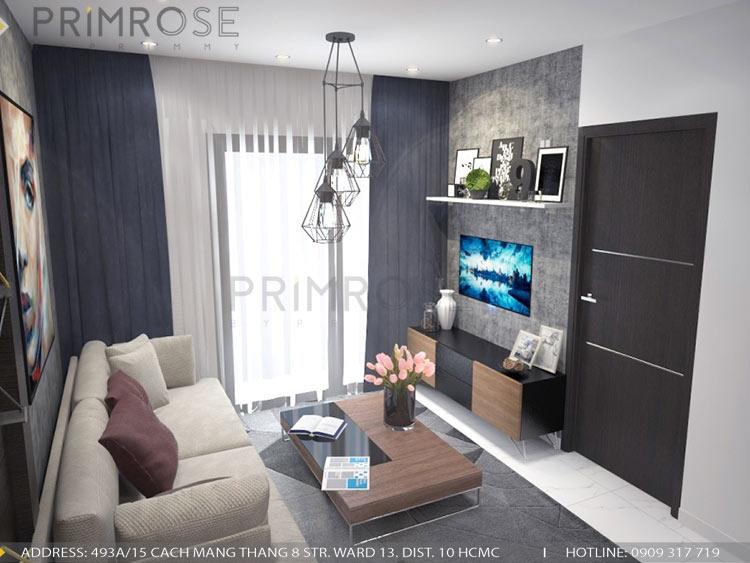Mẫu thiết kế nội thất căn hộ 75m2 với 2 phòng ngủ thiet ke noi that can ho 75m2 1