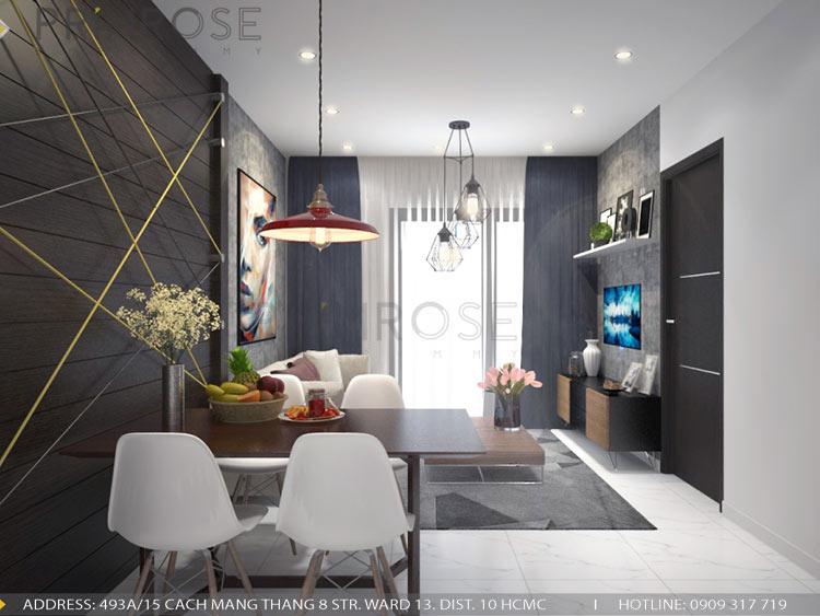 Mẫu thiết kế nội thất căn hộ 75m2 với 2 phòng ngủ thiet ke noi that can ho 75m2 2