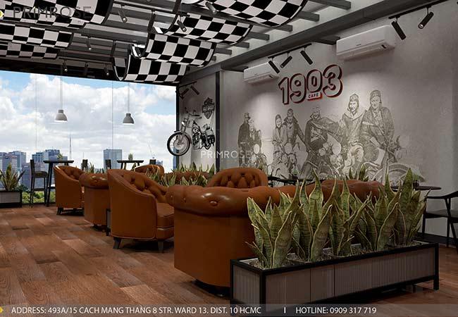 1903 Cafe - Không gian cafe phá cách độc đáo với thiết kế riêng biệt thiet ke quan cafe pha cach Chau Au 1