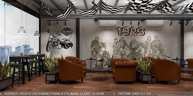 1903 Cafe - Không gian cafe phá cách độc đáo với thiết kế riêng biệt thiet ke quan cafe pha cach Chau Au 4