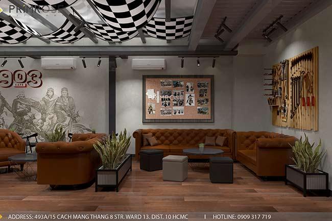 Dự án thiet ke quan cafe pha cach Chau Au 5