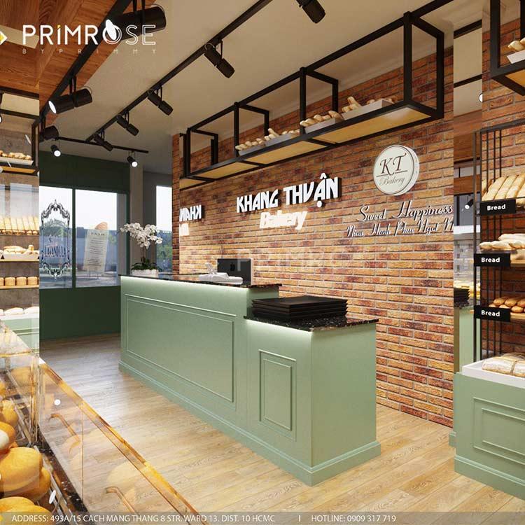Khang Thuận Bakery - Không gian tiệm bánh mang nét đẹp đặc trưng riêng biệt thiet ke cua hang banh ngot dep 1