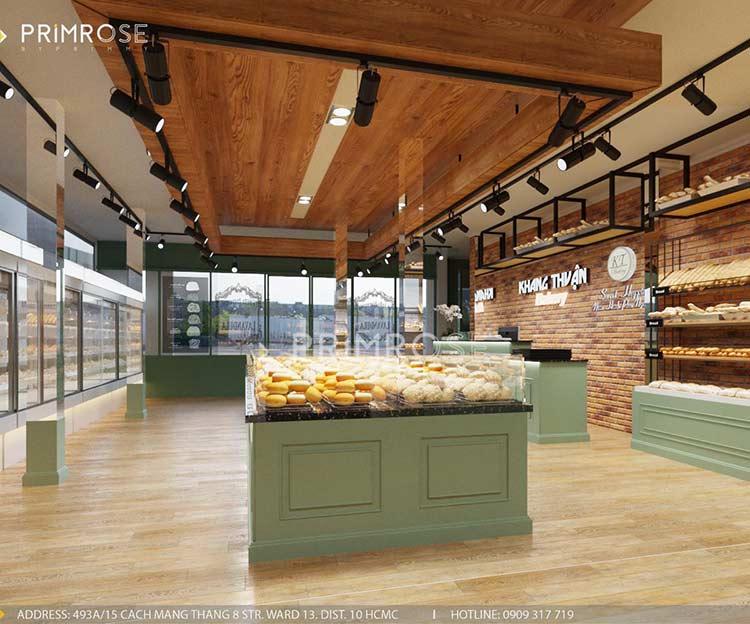 Khang Thuận Bakery - Không gian tiệm bánh mang nét đẹp đặc trưng riêng biệt thiet ke cua hang banh ngot dep 4