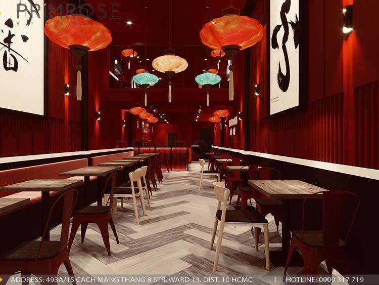 Thiết kế nhà hàng DimSum tại Ông Ích Khiêm, Quận 11 thiet ke nha hang trung hoa 2