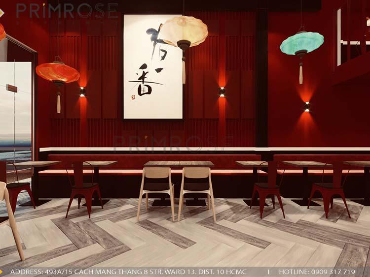 Thiết kế nhà hàng DimSum tại Ông Ích Khiêm, Quận 11 thiet ke nha hang trung hoa 4