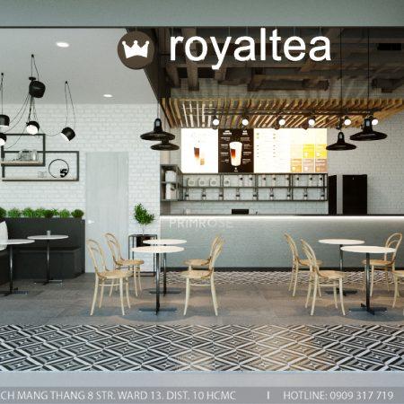 Thiết kế quán trà sữa Royaltea- Gold View Quận 4