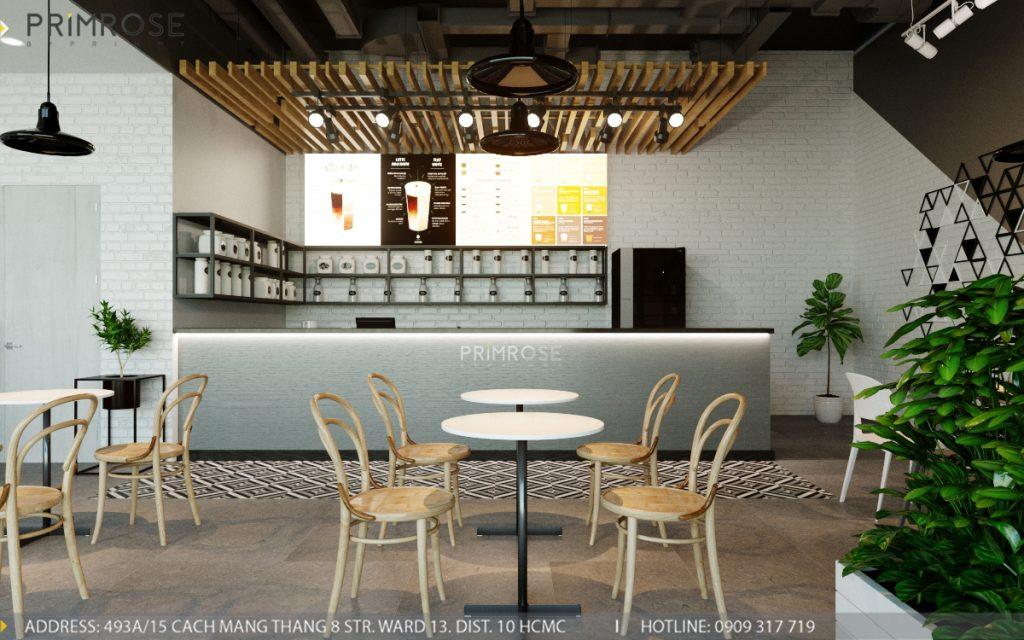 Thiết kế quán trà sữa Royaltea- Gold View Quận 4 thiet ke noi that quan tra sua roya tea 4