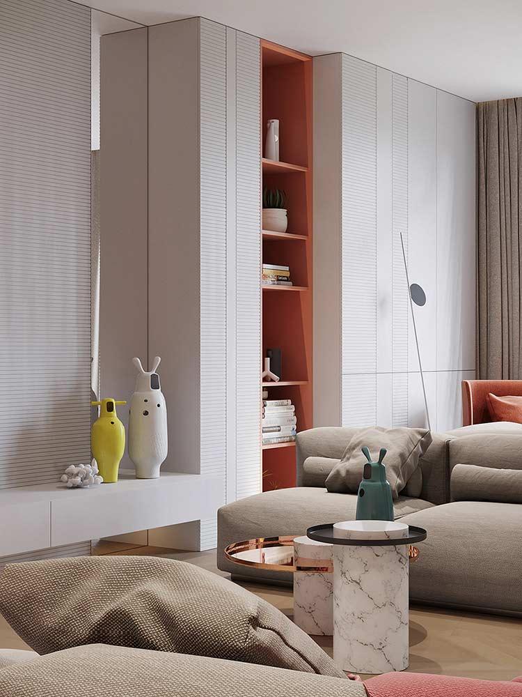 Căn hộ phong cách Retro pha nét đương đại Quirky home accessories