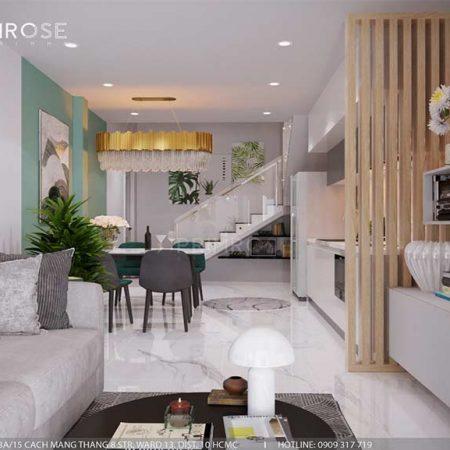 Thiết kế nội thất nhà phố 3 tầng tại Dạ Nam, Quận 8