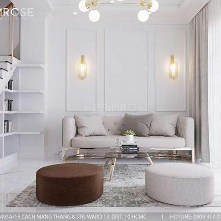 Thiết kế nội thất nhà phố 150m2 phong cách hiện đại