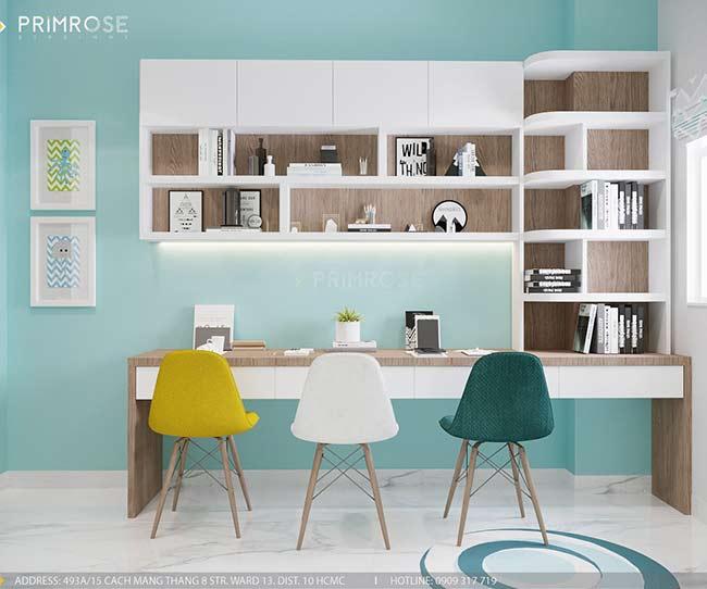 Thiết kế nội thất nhà phố 150m2 phong cách hiện đại thie ke noi that nha pho 7