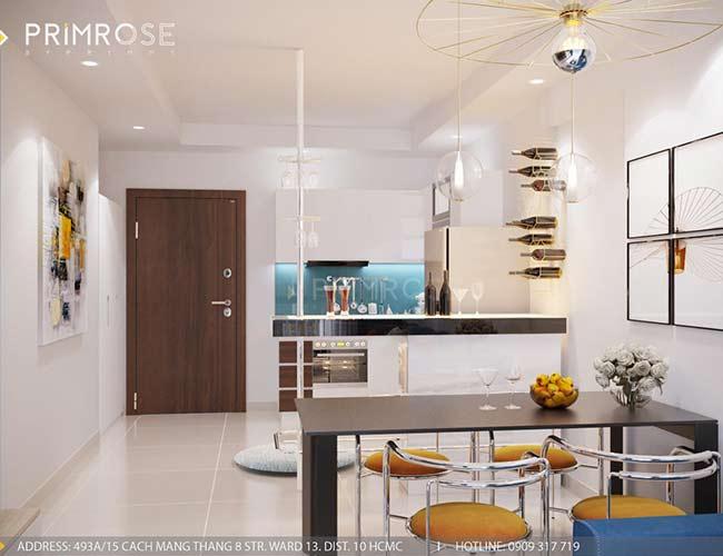 Thiết kế nội thất căn hộ 100m2 The PegaSuite,Quận 8 thiet ke noi that can ho hien dai 3