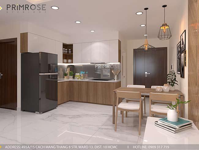 Thiết kế nội thất căn hộ hiện đại 75m2, 2 phòng ngủ tại Quận 11 thiet ke noi that can ho phong cach moc 10