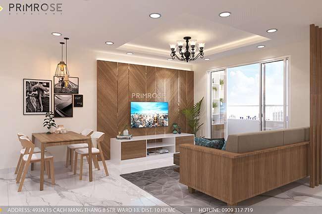 Thiết kế nội thất căn hộ hiện đại 75m2, 2 phòng ngủ tại Quận 11 thiet ke noi that can ho phong cach moc 11