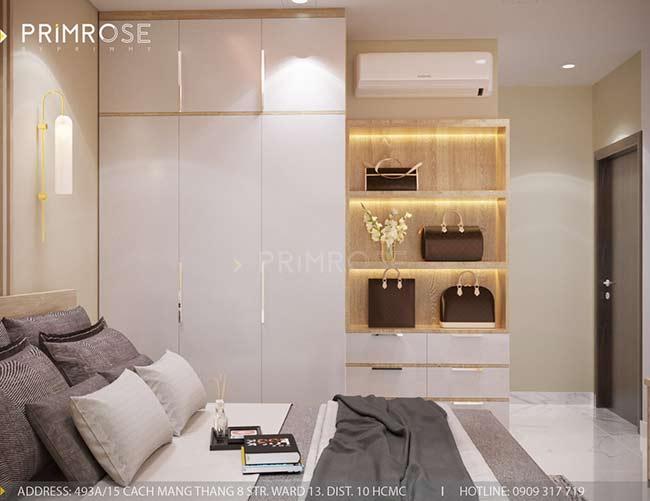 Thiết kế nội thất căn hộ hiện đại 75m2, 2 phòng ngủ tại Quận 11 thiet ke noi that can ho phong cach moc 5