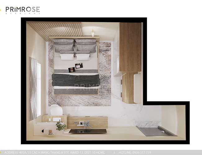 Thiết kế nội thất căn hộ hiện đại 75m2, 2 phòng ngủ tại Quận 11 thiet ke noi that can ho phong cach moc 8