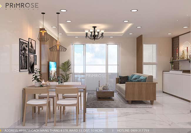 Thiết kế nội thất căn hộ hiện đại 75m2, 2 phòng ngủ tại Quận 11 thiet ke noi that can ho phong cach moc 9