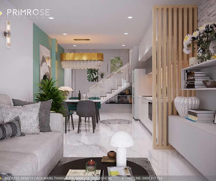 Thiết kế nội thất nhà phố 3 tầng tại Dạ Nam, Quận 8 thiet ke noi that nha pho 1