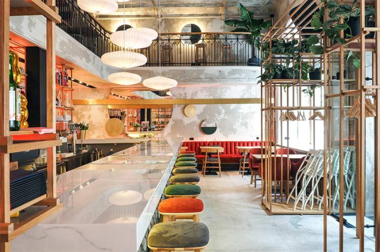 Chiêm ngưỡng không gian quán cafe phong cách đương đại thiet ke quan cafe phong cach hien dai 1