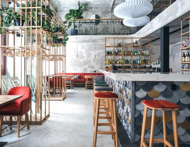 Chiêm ngưỡng không gian quán cafe phong cách đương đại thiet ke quan cafe phong cach hien dai 12