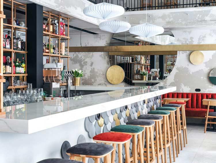 Chiêm ngưỡng không gian quán cafe phong cách đương đại thiet ke quan cafe phong cach hien dai 14