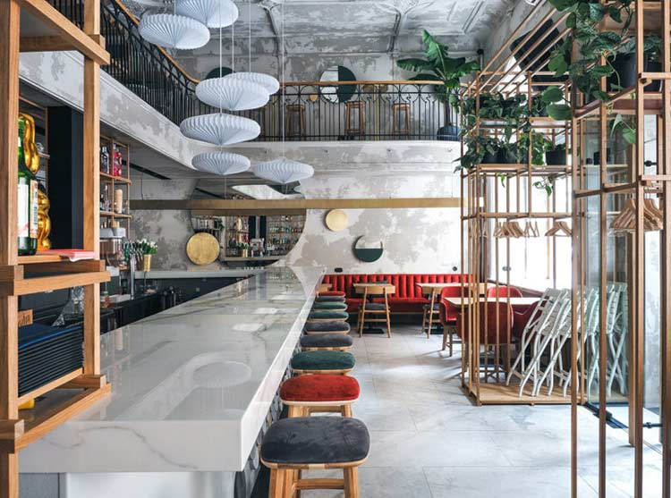 Chiêm ngưỡng không gian quán cafe phong cách đương đại thiet ke quan cafe phong cach hien dai 16