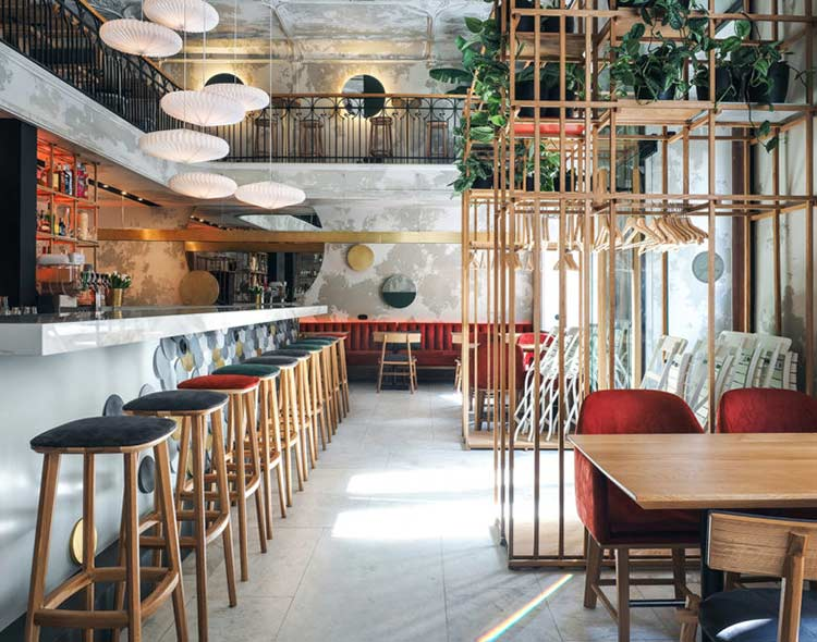 Chiêm ngưỡng không gian quán cafe phong cách đương đại thiet ke quan cafe phong cach hien dai 2
