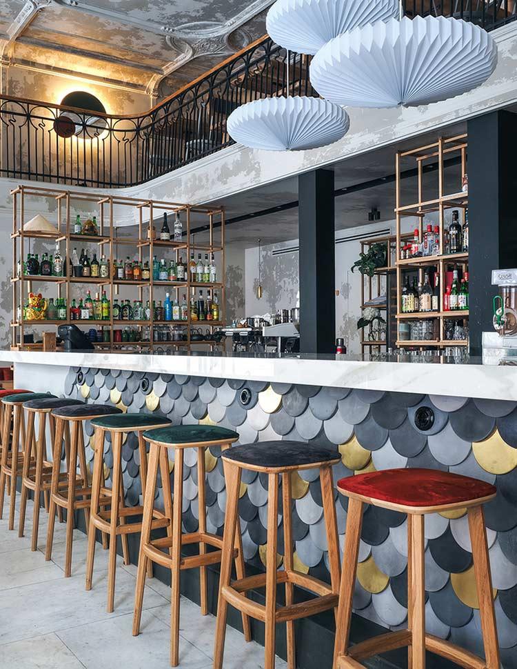 Chiêm ngưỡng không gian quán cafe phong cách đương đại thiet ke quan cafe phong cach hien dai 5