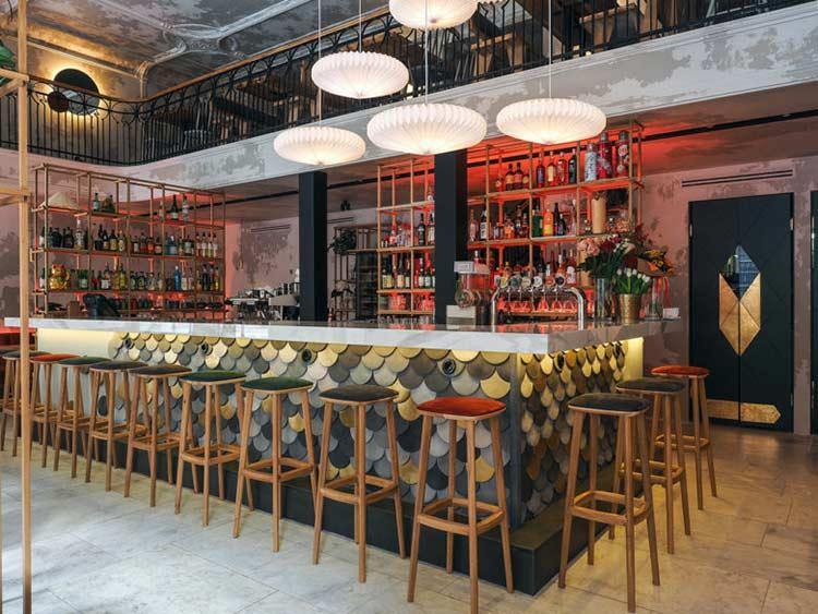 Chiêm ngưỡng không gian quán cafe phong cách đương đại thiet ke quan cafe phong cach hien dai 6