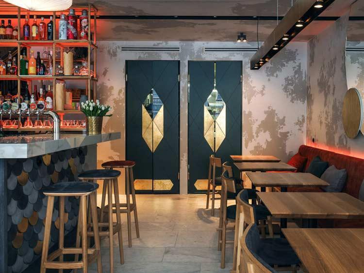 Chiêm ngưỡng không gian quán cafe phong cách đương đại thiet ke quan cafe phong cach hien dai 8
