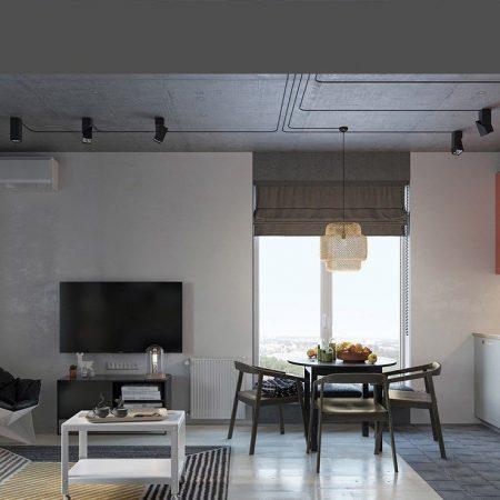 Chiêm ngưỡng căn hộ 49m2 thiết kế hình học vô cùng ấn tượng