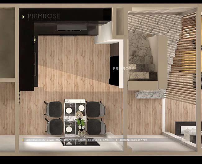 Thiết kế nội thất nhà phố đẹp mang phong cách tân cổ điển thiet ke nha pho ban co dien 16