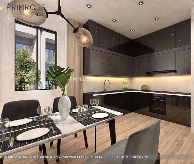 Thiết kế nội thất nhà phố đẹp mang phong cách tân cổ điển thiet ke nha pho ban co dien 18