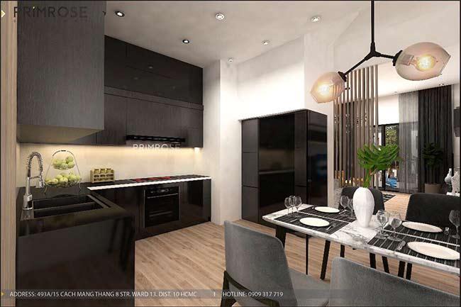 Thiết kế nội thất nhà phố đẹp mang phong cách tân cổ điển thiet ke nha pho ban co dien 2