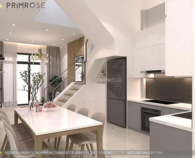 Thiết kế nội thất nhà phố Kha Vạn Cân, Thủ Đức thiet ke nha pho hien dai 1