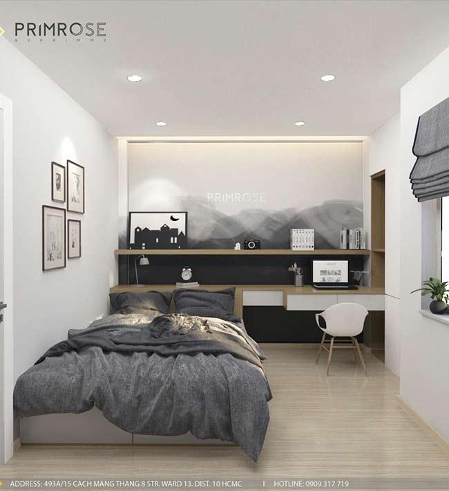 Thiết kế nội thất nhà phố 1 trệt, 2 lầu tại Thủ Đức thiet ke nha pho hien dai 11