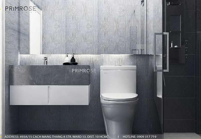 Thiết kế nội thất nhà phố 1 trệt, 2 lầu tại Thủ Đức thiet ke nha pho hien dai 12