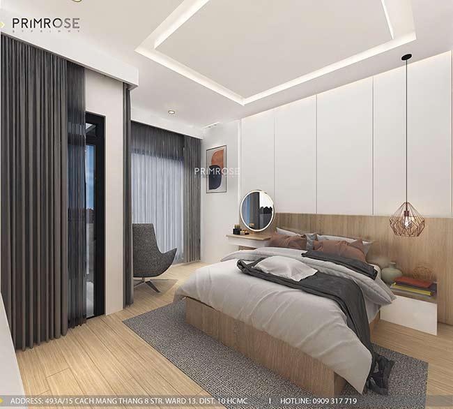 Thiết kế nội thất nhà phố 1 trệt, 2 lầu tại Thủ Đức thiet ke nha pho hien dai 14