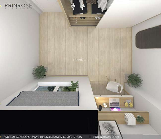 Thiết kế nội thất nhà phố 1 trệt, 2 lầu tại Thủ Đức thiet ke nha pho hien dai 15
