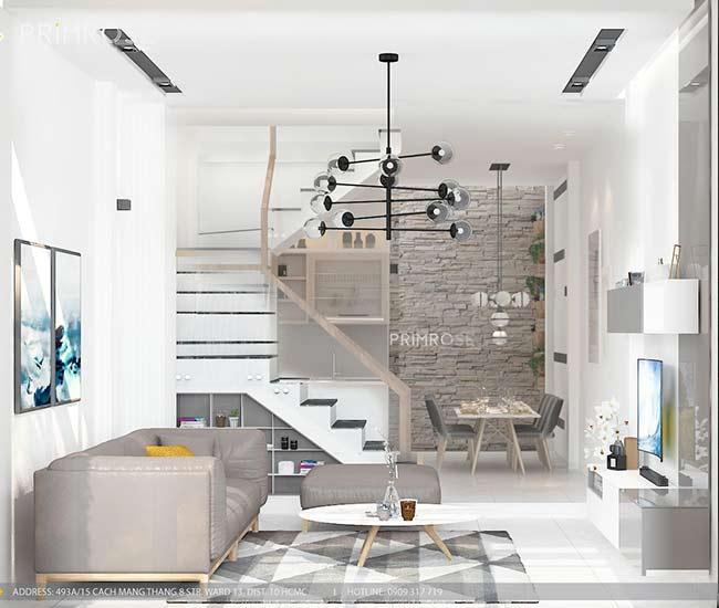 Thiết kế nội thất nhà phố 1 trệt, 2 lầu tại Thủ Đức thiet ke nha pho hien dai 19