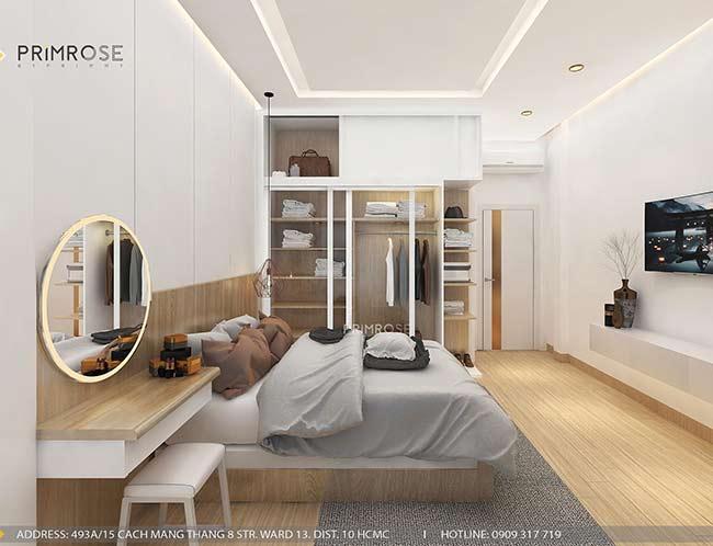 Thiết kế nội thất nhà phố 1 trệt, 2 lầu tại Thủ Đức thiet ke nha pho hien dai 20